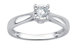 1/4 Cttw Diamond Solitaire Ring In 14k: Kr15678gwfc-s1/06