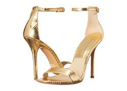 Michael Kors Jacqueline Sandals - Gold - Size: 6.5