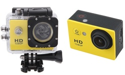 1080p Full-HD Action Camera with Waterproof Case and Mounting Kit - Yellow