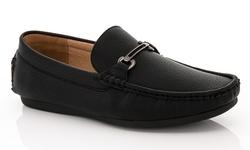 Franco Vanucci Men's Casual Loafers - Black - Size:11.5