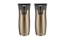 Contigo West Loop Stainless Steel Travel Mugs - Latte - Set of 2