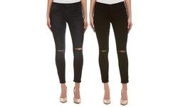 Joe's Jeans Women's Finn Destruction Skinny Ankle Jeans - Black - Size: 27