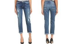 7 For All Women's Mankind Josefina Skinny Boyfriend Jeans - Blue - Size:25