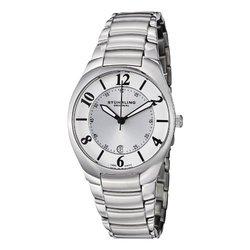 Stuhrling Original Men's Watch: GP12530/Silver Band-White Dial