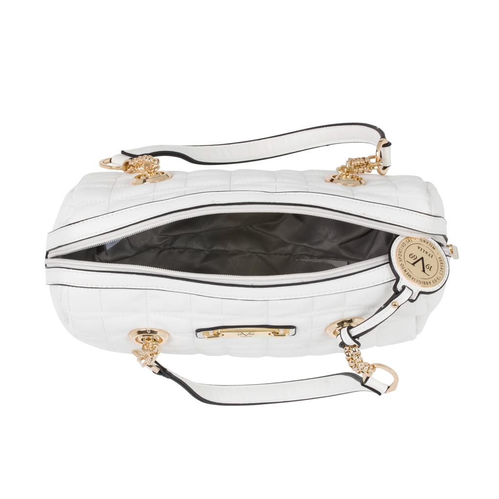 6d04abf274 Versace V1969 Italia Charlotte Duffle Handbag - White - Check Back ...