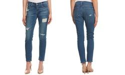 Frame Denim Women's Distressed Stretch Skinny Jeans - Blue - Size: 26