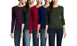 Gabriella Rossi Women's Cashmere Neck Sweater - Mulberry - Size: XLarge