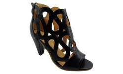 NY VIP Women's Strappy High Heel Sandals - Black - Size: 7