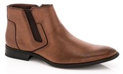 Adolfo Men's Slip-On Dress Boots - Brown - Size: 8
