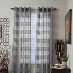 Grey Sofia Grommet Curtain Panel, 84 in. Length