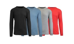 Harvic Waffle Knit Thermal - Black/Blue//Grey/Red - Size: X-Large