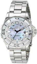 Women's Pro Diver Auto Stainless Steel Platinum Mother of Pearl Dial