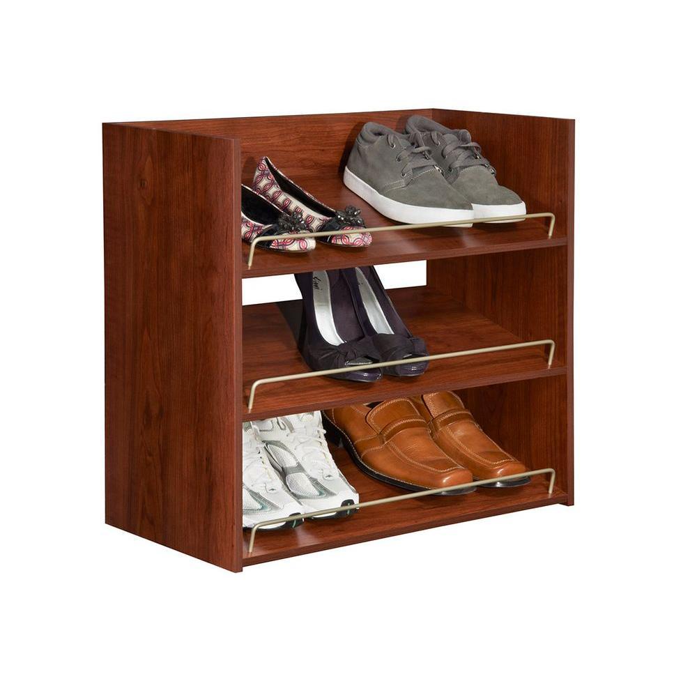 Attrayant ... ClosetMaid Impressions 3 Shelf Shoe Organizer   Dark Cherry (30900) ...