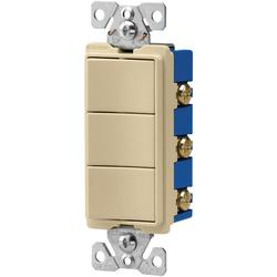 Cooper 15-Amp 120-V 3-Way Decorator 1-Pole Combination Switches - Ivory
