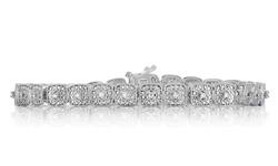 Beauty Gem Diamond Accent Bracelet - Square
