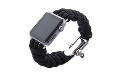 iPM Weave Apple Watch Band - Black - Size: 38mm