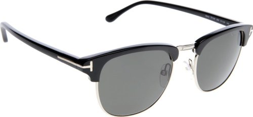 01c5cdce9dd Tom Ford Men s Sunglasses -Shiny Black with Rose Gold Lens   Grey ...