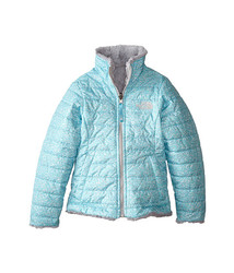 The North Face Girl's Reversible Mossbud Jacket - Blue - Size: Large 14/16