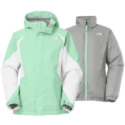 The North Face Girl's TriClimate 3-in-1 Jacket - Green - Sz: M 10/12 Youth