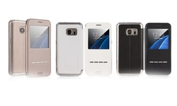 G-case Sense Ii Window Case: Samsung S7/gold