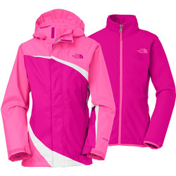 The North Face Girl's Triclimate Ski Jacket - Pink - Size: Small 7/8