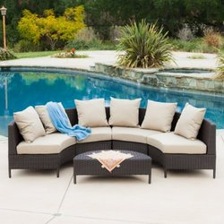 Venice Outdoor Wicker Sectional Sofa (5-piece)