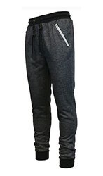 Galaxy by Harvic Men's French Terry Jogger Pants - Heather Black - Size: M 841027