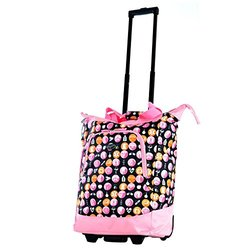Olympia USA Woman's Lifesaver Rolling Tote - Pink