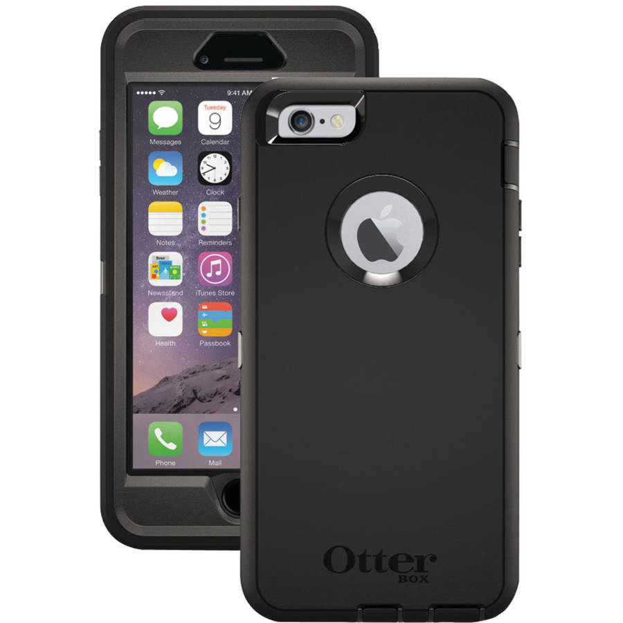 promo code e6be4 dadd9 OtterBox Defender Series Case for iPhone 6 Plus - Black - Check Back ...