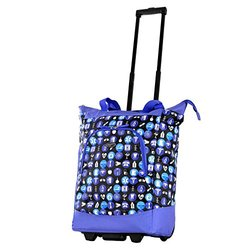 "Olympia Usa ""Lifesaver"" Rolling Shopper Tote: Purple"