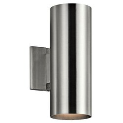 Kichler 92BA Indoor/Outdoor Wall Light - Brushed Aluminum - Size: 12""