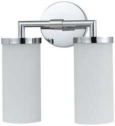Cal Bath Vanity with Frosted Glass Shades - Chrome