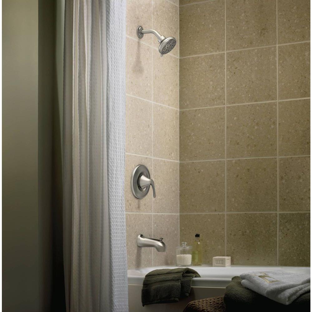 ... Moen Darcy 1 Handle 5 Spray Tub/Shower Faucet   Spot Resist Brushed ...
