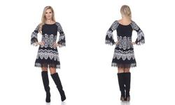 White Mark Women's Alta Dress - Black/White - Size: XLarge