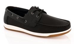 Franco Vanucci Men's Boat Shoes - Black - Size: 10