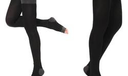 La Casa Milano Women's Slim Detox Compression Overnight Stockings - Black
