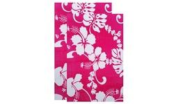 "30""x60"" Summer Themed Cotton Beach Towels - 2 Pack - Hawaii Pink"