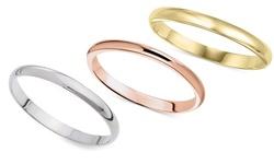 Sevil 14K Solid Unisex 2mm Ring - Gold -Size: 6