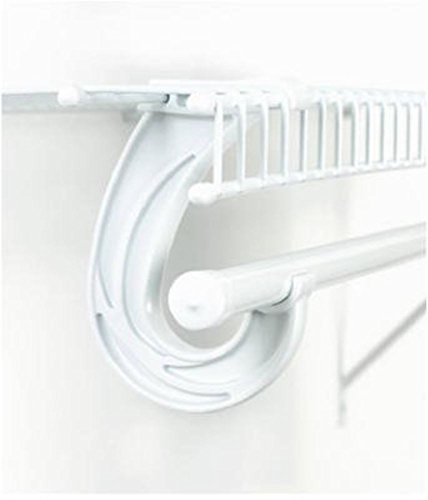 White Closet Rod Support Bracket ...