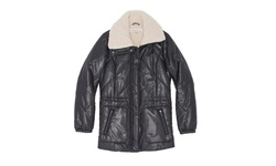 Kenneth Cole Women's Faux Sherpa Lined Jacket - Black - Size: X-Small