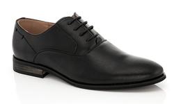 Franco Vanucci Men's Lace-Up Andrew Dress Shoes - Black - Size: 9.5