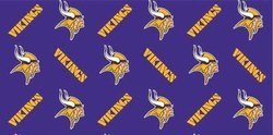 Minnesota Vikings Flat Sheets Wrapping Paper