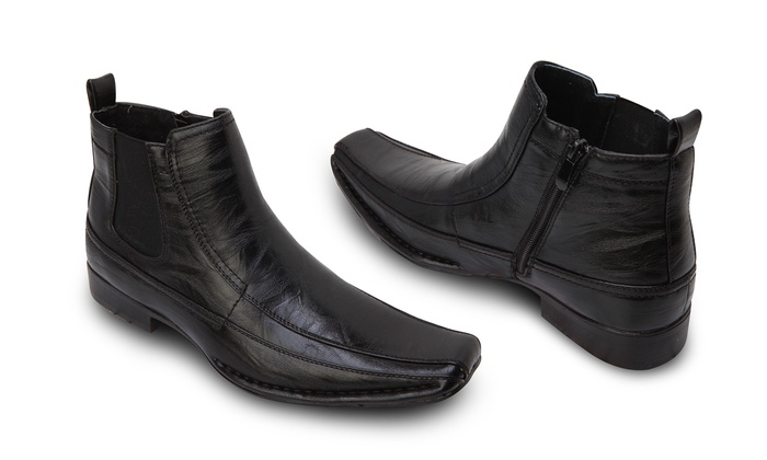 Dress Boots With Side Zipper - Black