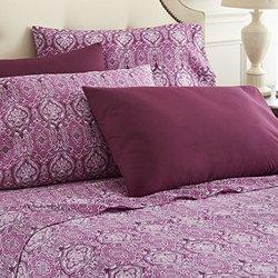 6 Piece Lux Home Paisley Sheet Set - Purple - Size: Queen (LH-QU-PPA)