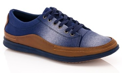 Franco Vanucci Grec-1 Lace-up Men's Sneaker - Navy - Size: 11