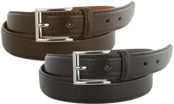 Men's Genuine Leather Dress Belts (2-Pack): 38-40