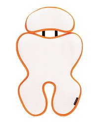 Manito Breath Royal Plus 3D Mesh Seat Pad/Cushion/Liner for Stroller and Car Seat - Orange (7 Available Colors)