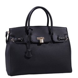 Satchel Handbag Claire Lock - Black