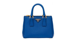 Prada Saffiano Leather Tote Handbag - Cobalt Blue