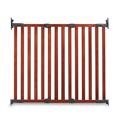 KidCo Angle Mount Wood Safeway Stairway Gate - Elegant Cherry (G2301)